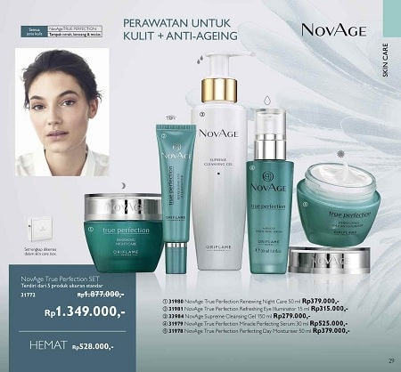 Harga Promo NovAge Ture Perfection SET Oriflame