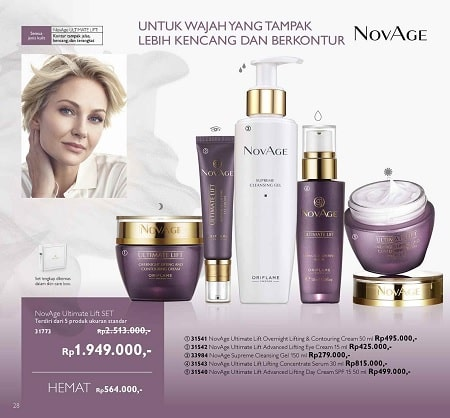 Harga Promo NovAge Ultimate Lift SET Oriflame