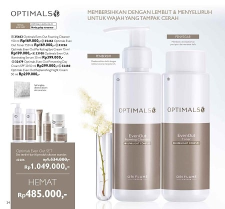 Harga Promo Optimals Even Out di Katalog Oriflame Januari 2020