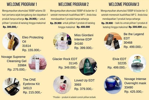 Welcome Program Oriflame Februari Maret 2020
